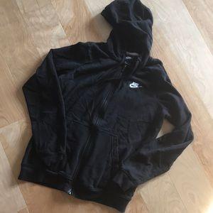 Black soft Nike hoodie, size M